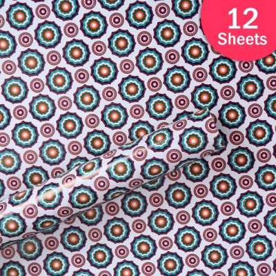 """Paper Pep Packaging Collection White Traditional Print 27""""X40"""" Paper Series Wrapping Paper Pack of 12 Sheets"""