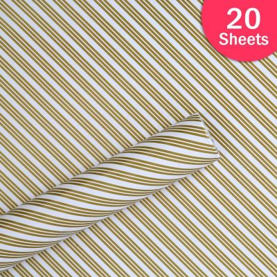 """Paper Pep Packaging Collection White Multiple Diagonal Lines Print 21""""X30"""" Paper Series Wrapping Paper Pack of 20 Sheets"""