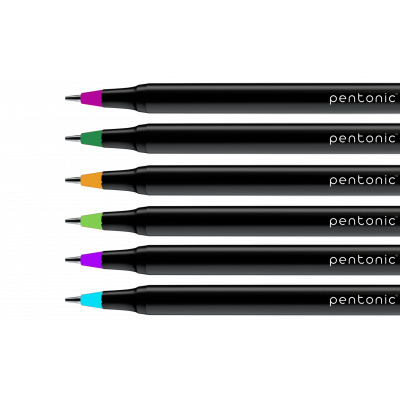Linc Pentonic Multicolor Ball Point Pen, Pack of 50